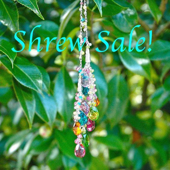 Spitzmaus+Verkauf+Regenbogen+Quarz+Quaste+Halskette+/+von+shopshrew