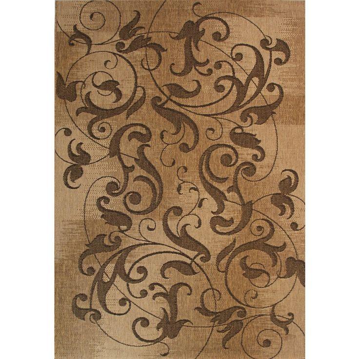 shop kannapolis rectangular brown woven area rug common x actual - Outdoor Carpet Lowes