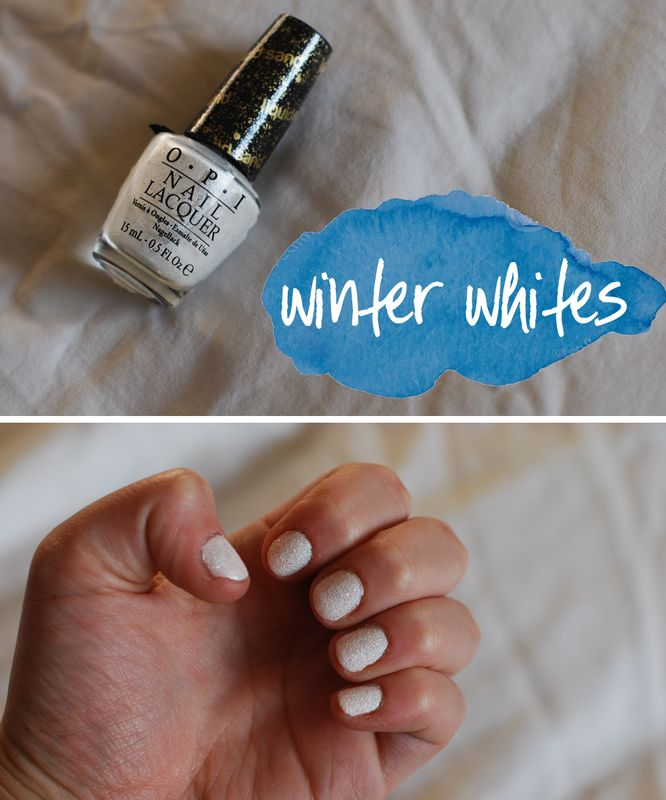All about the winter whites. Especially this White OPI shade.