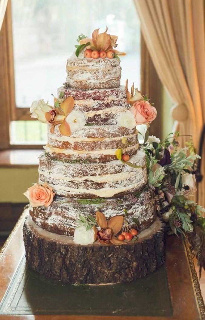 Rustic non traditional wedding cake idea :)