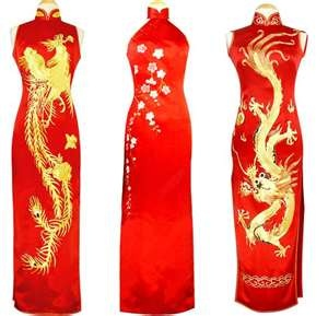 dragon themed Chinese wedding dresses