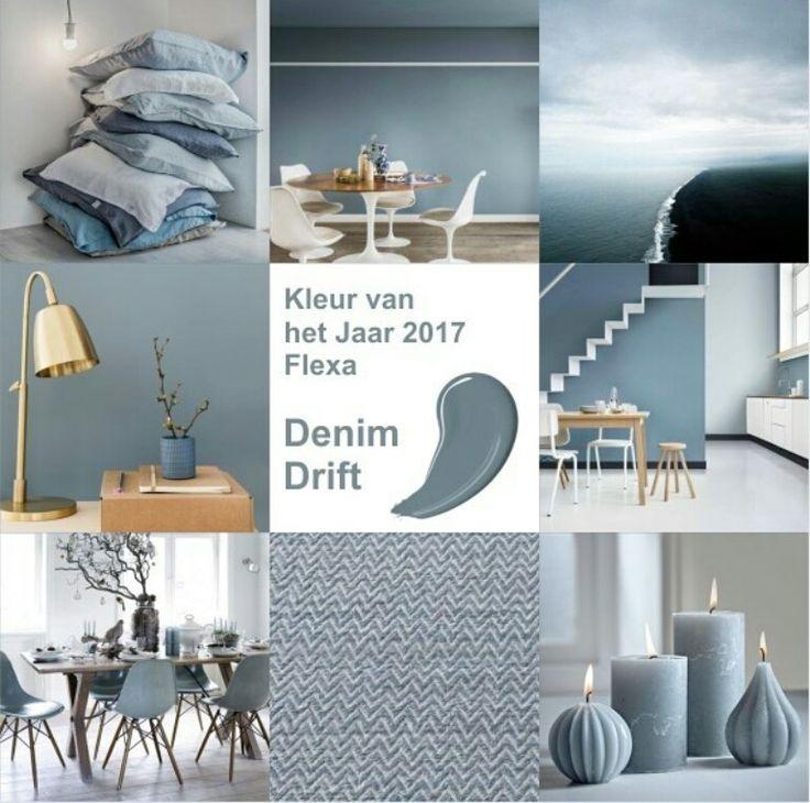 Kleur denim voor woonkamer, blauw / grijs