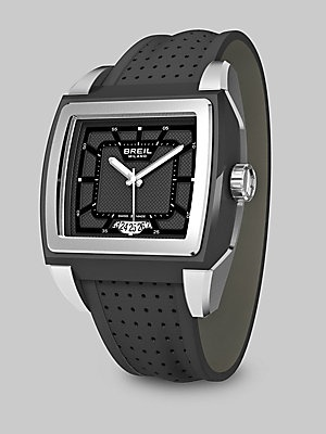 Breil Stainless Steel Driver Watch/Black Dial