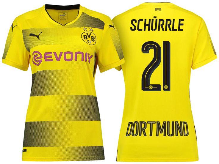 Borussia Dortmund #21 Andre Schurrle 17-18 Home Short Shirt Women