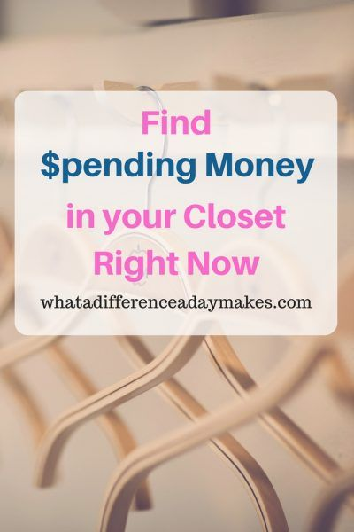 Finding Money in Your Closet Right Now - in time for your shopping spree! #closet #tidyingup #organize #spendingmoney #shopping #fashion #clothes #design #diy