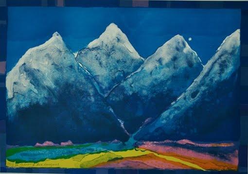 Painting by Eva Langaas