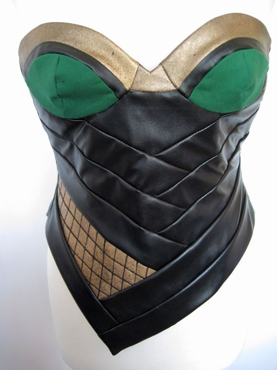 Corset for a gender swap Loki cosplay I am making, based on one of Tom Hiddleston's costumes.  www.frockasaurus.com