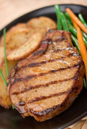 Made these porkchops tonight, and they were great! I used a combo of spicy and regular mustard, and doubled the brown sugar.