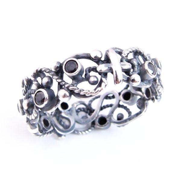 c0861c8c805df8 ciernisty... srebrny różaniec obrączka / lookrecya / Biżuteria / Pierścionki
