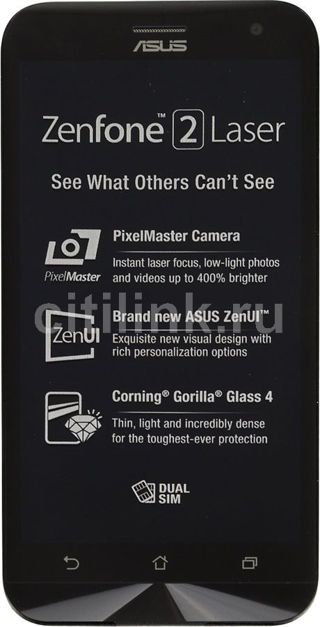 Смартфон ASUS ZenFone 2 Laser ZE500KL  16Gb, серебристый