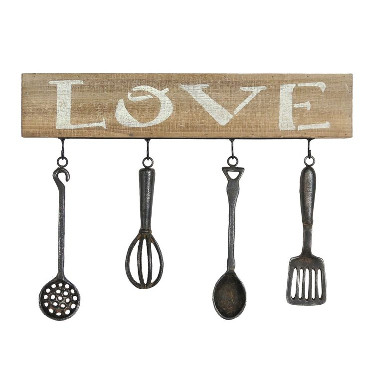 Wooden Utensil Wall Decor : Foreside home garden kitchen utensil wall art trend