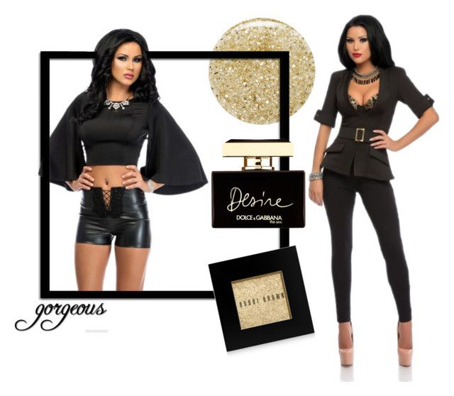 """""""Black and Yellow"""" by teambby on Polyvore featuring Lancôme, Bobbi Brown Cosmetics and Dolce&Gabbana"""