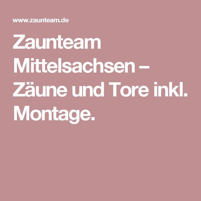 Good Zaunteam Mittelsachsen u Z une und Tore inkl Montage