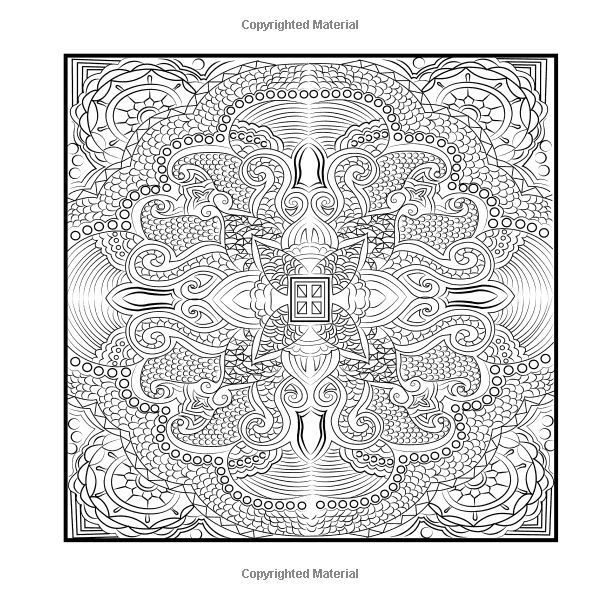 square mandala coloring pages - photo#11