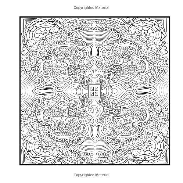 square mandala coloring pages - photo#13