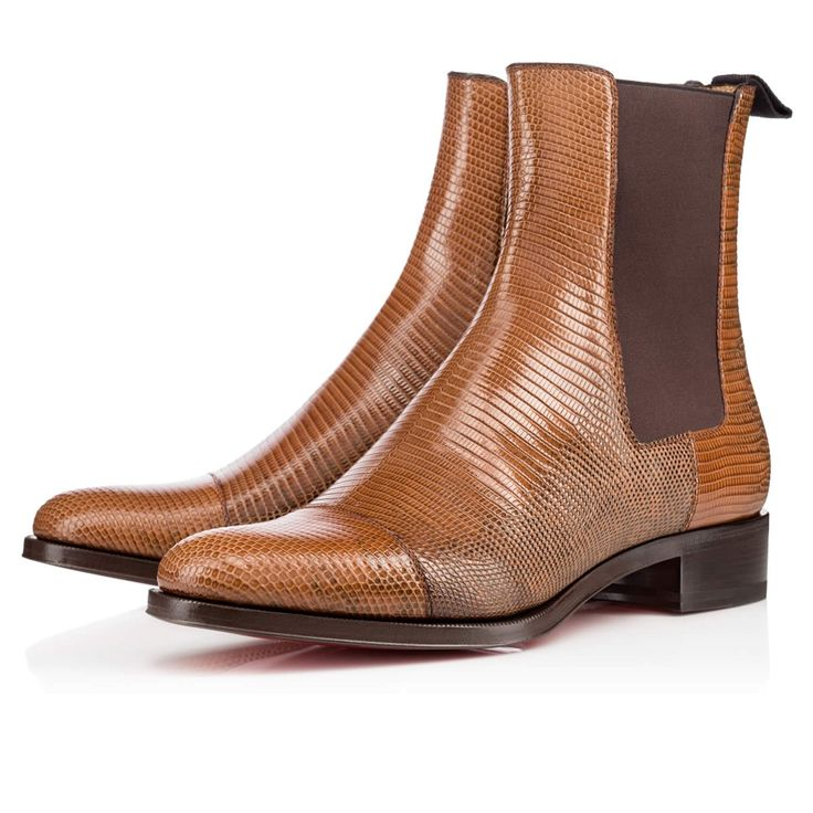 christian louboutin mens lizard skin boots