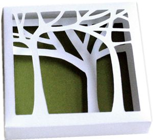 Silhouette Online Store: 3d trees wall art
