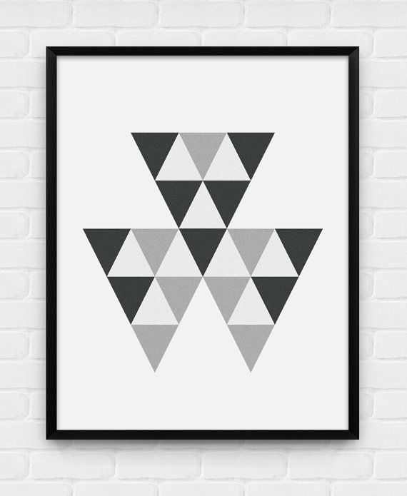 Geometric Triangles - Printable Poster - Digital Art, Download and Print JPG