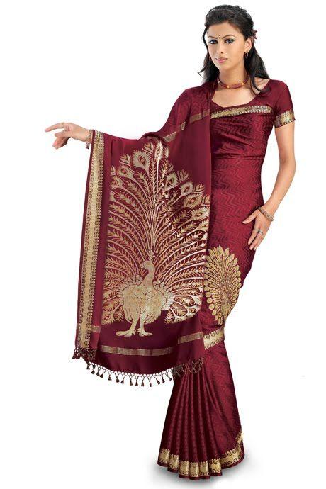 rmkv silk saree with peacock pattu pallu