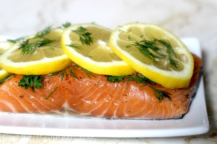 Baked Salmon with Lemon, Dill and Parsley |simply fresh dinners