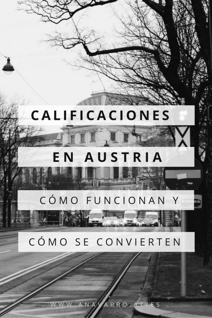 Las calificaciones escolares y universitarias en Austria: Cómo funcionan y cómo se convierten al sistema español