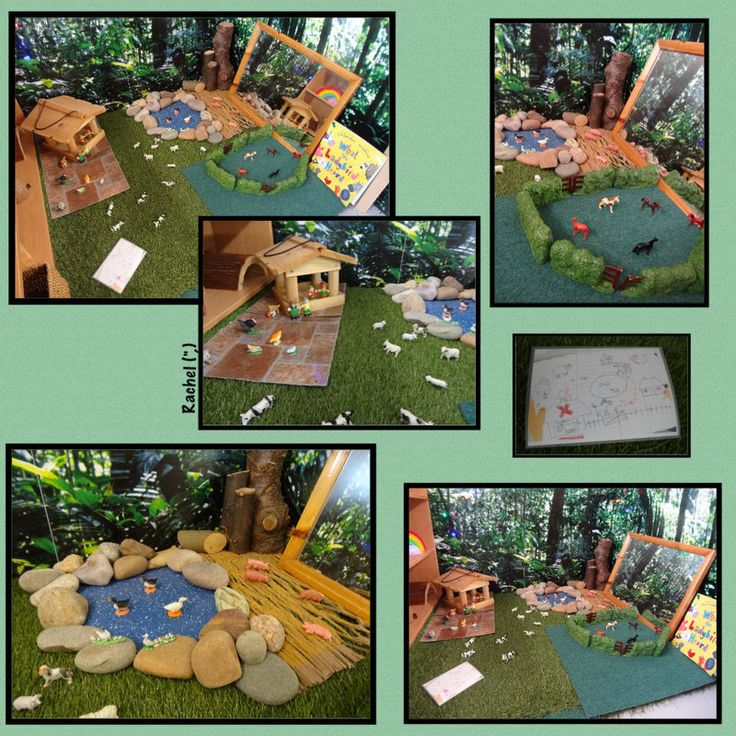 """Farm small world play - inspired by 'What the Ladybird Heard'... from Rachel ("""",)"""