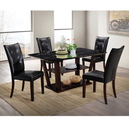 home source lower storage faux marble dining set