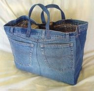 How cute is this?  put a fun belt or scarf or fun fabric thru belt loops. Great way to recycle jeans.  The bigger the jeans, the bigger the bag.
