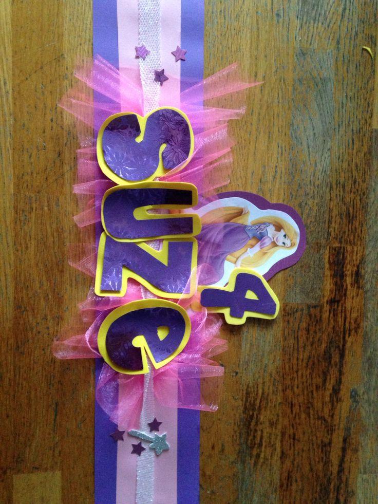 Verjaardags muts rapunzel/ princes