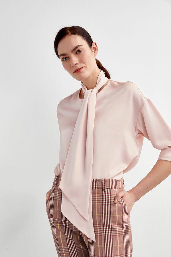 Pedro Del Hierro Blusa Oversize Lazo Rosa Women Wear Women Fashion