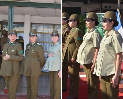 Este es el nuevo uniforme que Carabineros de Chile creó para las funcionarias embarazadas.