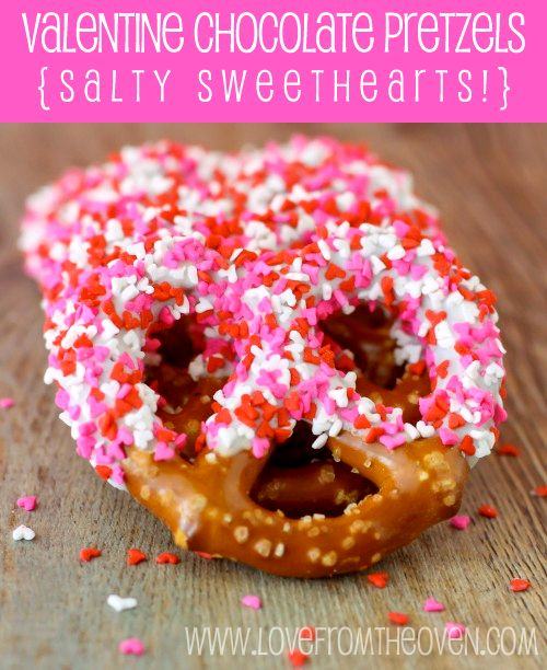 #Valentine Chocolate Pretzels - Salty Sweethearts! by Love From The Oven