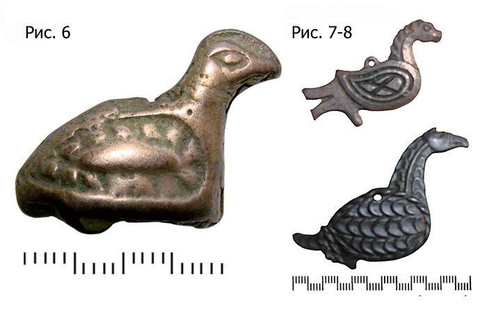 Орнитоморфные  финно-угорские подвески, XI-XIII в.н.э.