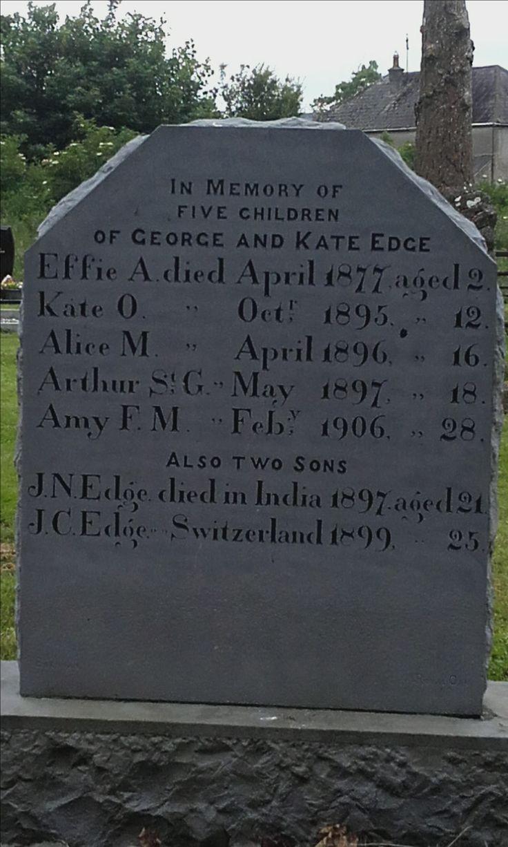 Timahoe graveyard: tragic headstone