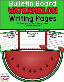 Bulletin Board Watermelon Writing Pages (K-3) | Kids ...