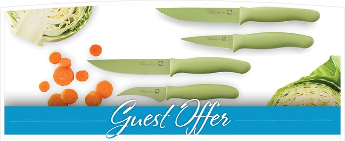 FREE Color Coated Knife in March!  Be on the cutting edge! Get your FREE , , or with a purchase of $75 or more.