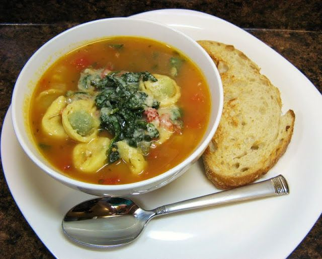 The Well-Fed Newlyweds: Tortellini Soup | food | Pinterest