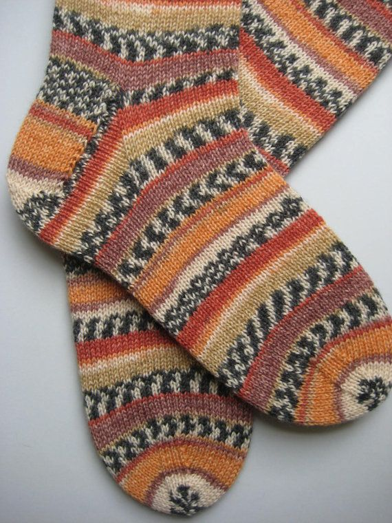 hand knitted mens wool socks UK 810 US 911 by sockysocks on Etsy, £25.00