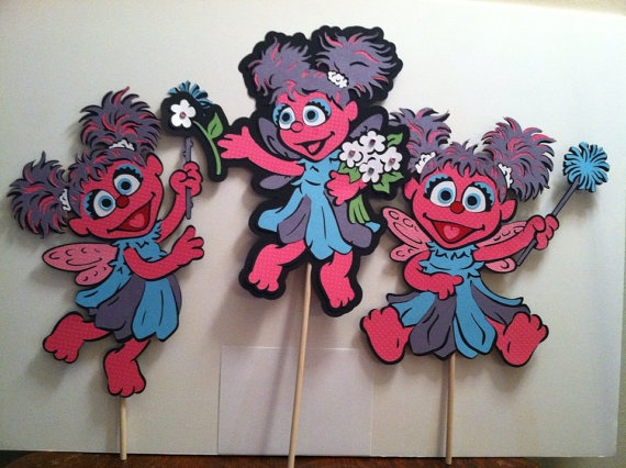 Sesame Street's Abby Cadabby  Set of 3 11 by aSavvyScrapbooker, $18.00