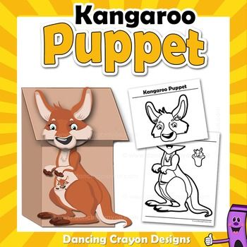 1000 images about printable puppets on pinterest for Kangaroo puppet template