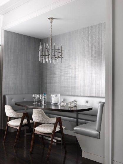 Very elegant and luxurious, this dining space designed by Jean-Louis Deniot. #interiordesign