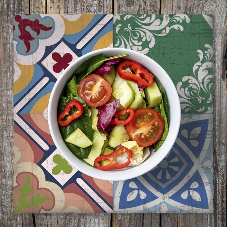 Condimenta tu mesa con nuestros Posavasos. ·Modelo Patchwork Posavaso Vida_Mix· #adamaalma #posavasos #coaster #vinilo #design #baldosas #baldosashidráulicas #decor #decoración #mesa #table #patchwork