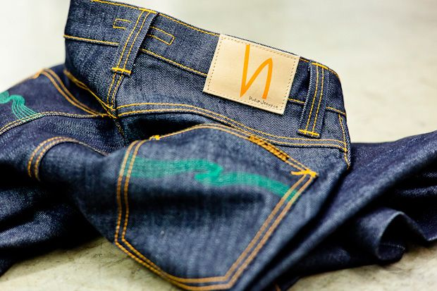 """Atrium x Nudie Jeans """"The Green Apple"""" denim- need a freakin pair of these"""