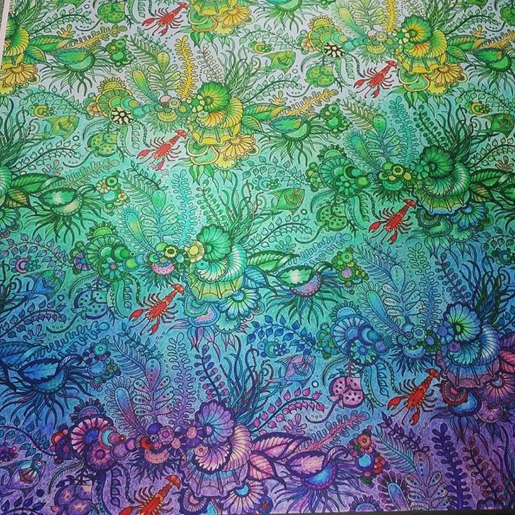 Finally Done Johannabasford Lostocean Lostoceancoloringbook Johanna BasfordCoral WallpaperAdult ColoringColoring BooksPencil ArtAnimal Kingdom