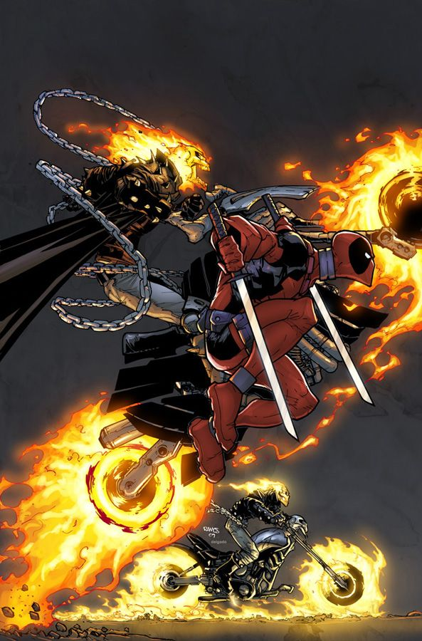 Deadpool //ghost rider #Marvel  Pin and follow @Pyra2elcapo