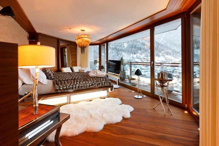 Chalet Zermatt Peak Zermatt master guest suite with views