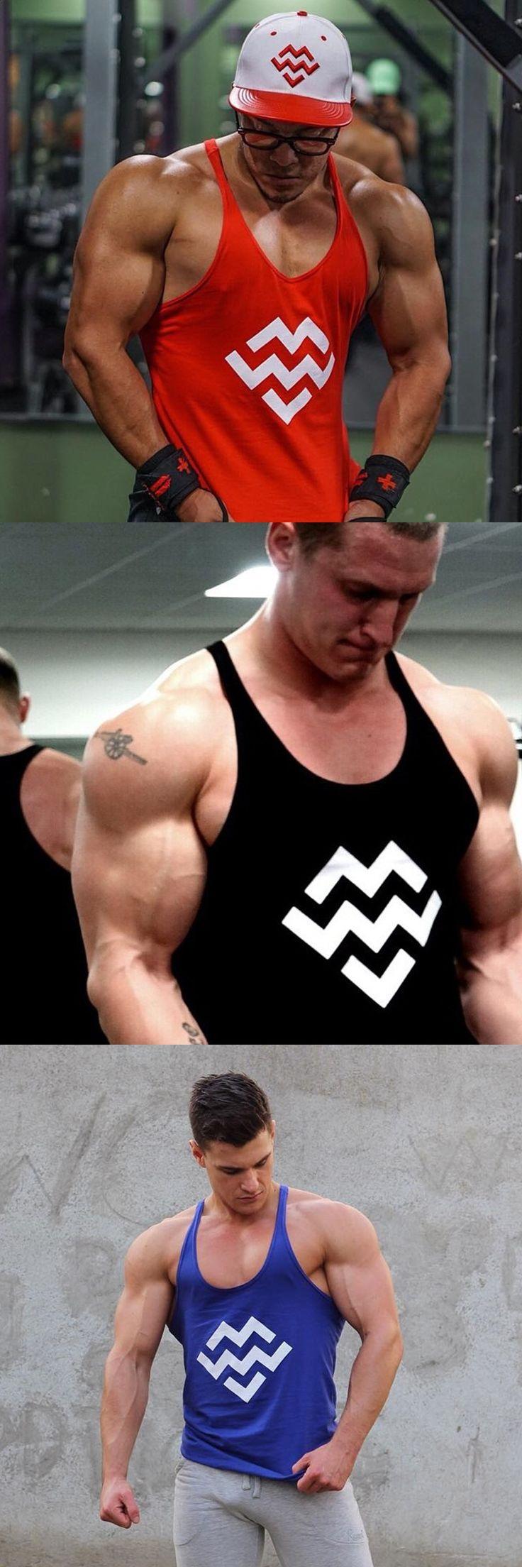 Men Bodybuilding Tank Tops Gyms Muscle Stringer Singlets Fittnes Vest Shirt  Fitness Sleeveless t shirt Hip hop Fashion Vest Top