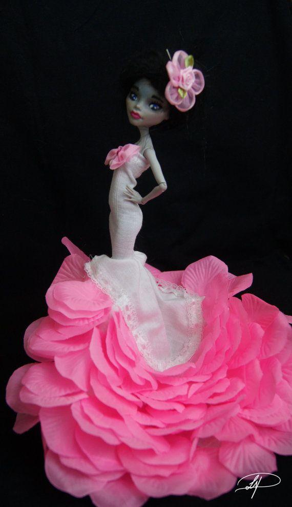 flower petal mermaid dress for monster high dolls by laurenpayton