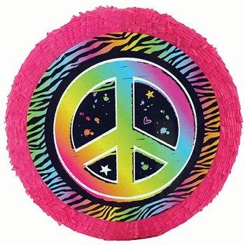 Neon Peace Sign Pinata