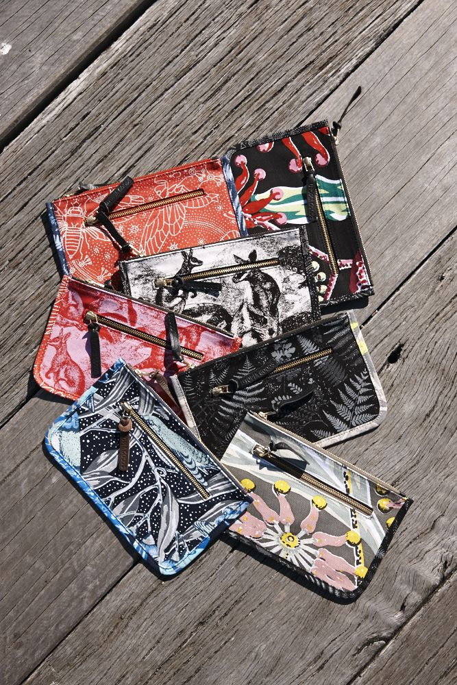 Utopia  Goods mini pouch, the perfect home for make up, dollars, passport, pencils and your everyday stuff!